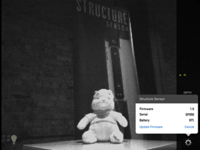 This is a picture of Winnie-The-Pooh in greyscale next to the firmware status shown by clicking the gear icon mentioned above.